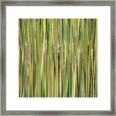 Green Melodies Framed Print by Lourry Legarde