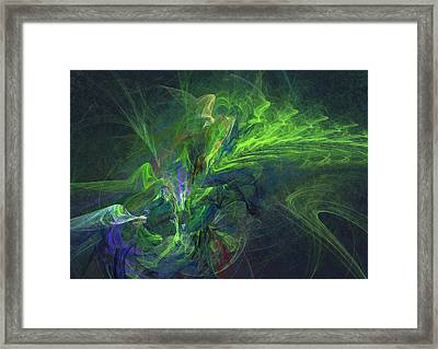 Green Metamorphosis Framed Print by Martin Capek