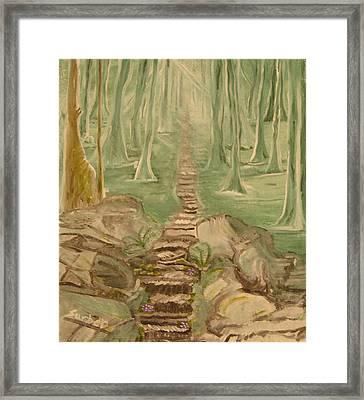 Green Mist Framed Print