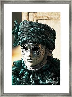 Green Model Framed Print by John Rizzuto