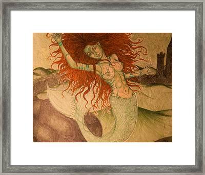 Green Moss Kingdom Framed Print