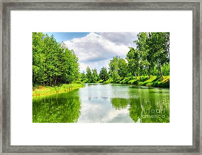 Framed Print featuring the photograph Green Nature by Boon Mee