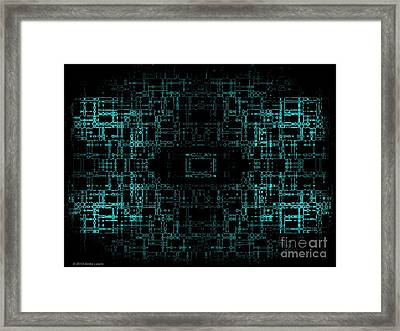 Green Network Framed Print by Anita Lewis
