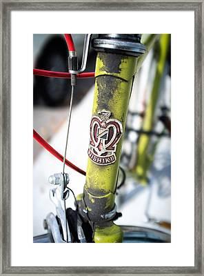 Green Nishiki Bicycle Framed Print by Tanya Harrison