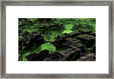 Green Odyssey Framed Print by Bernard MICHEL
