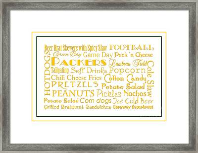 Green Packers Game Day Food 3 Framed Print