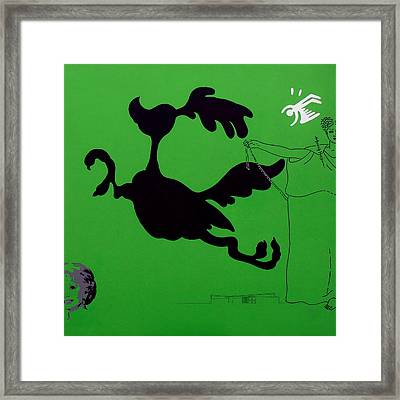 Green Palm Springs Idyll Framed Print by Stan  Magnan