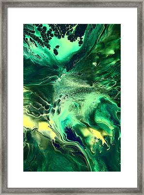 Green Passage Abstract Framed Print
