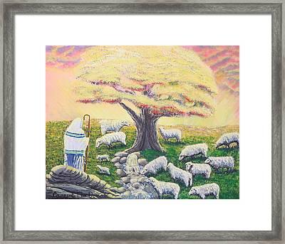 Green Pasture  Framed Print by Carey MacDonald