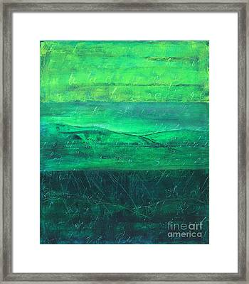 Green Pastures Framed Print by Jocelyn Friis