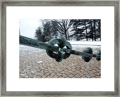 Framed Print featuring the photograph Green Patina by Michael Porchik