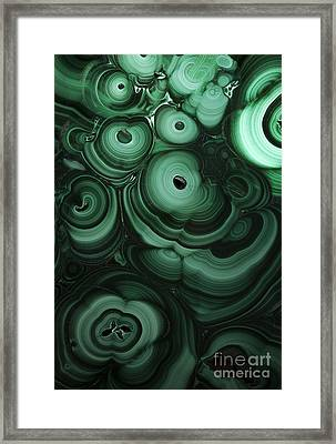 Green Patterns Of Malachite Framed Print by Jaroslaw Blaminsky