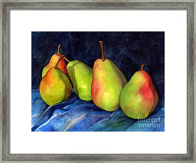 Green Pears Framed Print by Hailey E Herrera