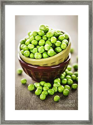 Green Peas Framed Print by Elena Elisseeva