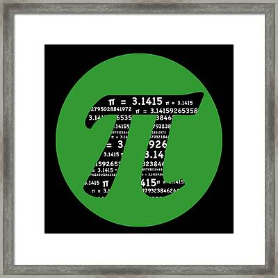 Green Pi Framed Print by Marianne Campolongo