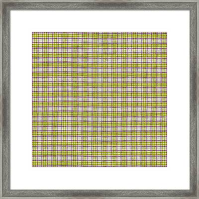 Green Pink And White Plaid Design Fabric Background Framed Print by Keith Webber Jr