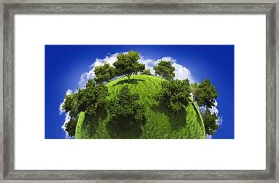 Green Planet Earth Framed Print by Vitaliy Gladkiy