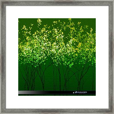 Green Print Framed Print