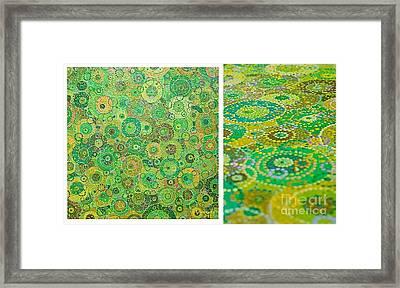 Green Rain Framed Print by Grass Hopper