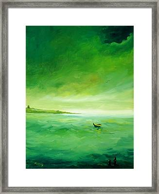 Green Reflection Framed Print