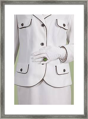 Green Ring Framed Print by Joana Kruse