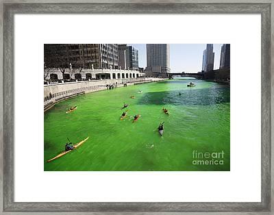 Green River Chicago Framed Print by Martin Konopacki