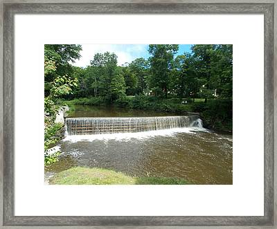 Green River Dam Framed Print by Catherine Gagne