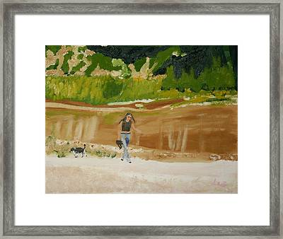 Framed Print featuring the painting Green River Dinosaur National Park by Leslie Byrne