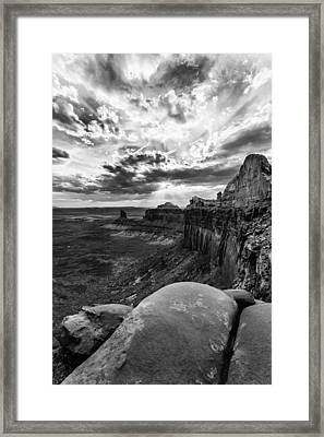 Framed Print featuring the photograph Green River Overlook by Jay Stockhaus