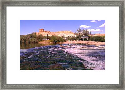 Framed Print featuring the photograph Green River Rapids by Chris Tarpening