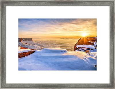 Green River Snow Framed Print by Chad Dutson