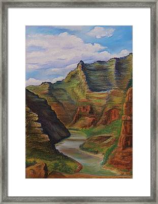Green River Utah Framed Print by Lucy Deane