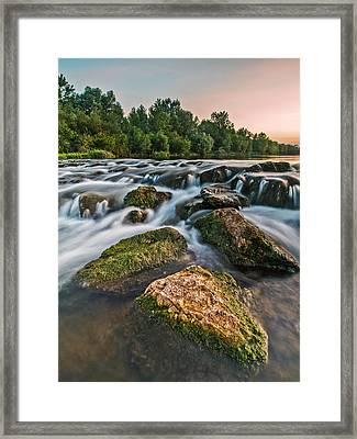 Green Rocks Framed Print by Davorin Mance