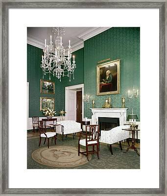 Green Room In The White House Framed Print by Tom Leonard