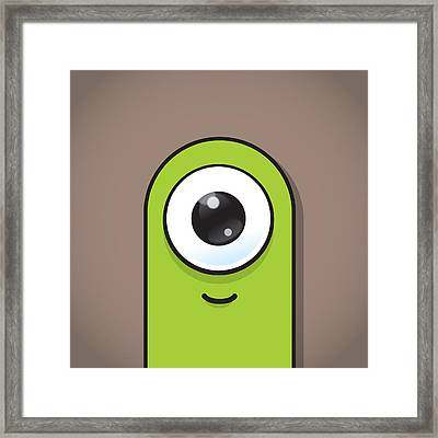 Green Framed Print by Samuel Whitton