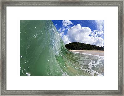 Green Scream Framed Print by Sean Davey