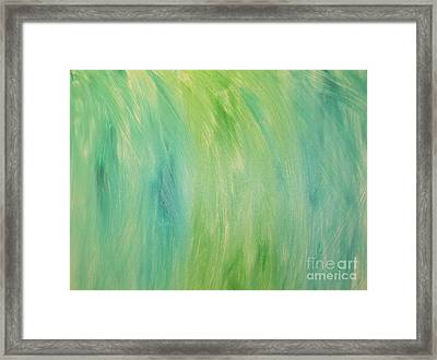Green Shades Framed Print by Barbara Yearty