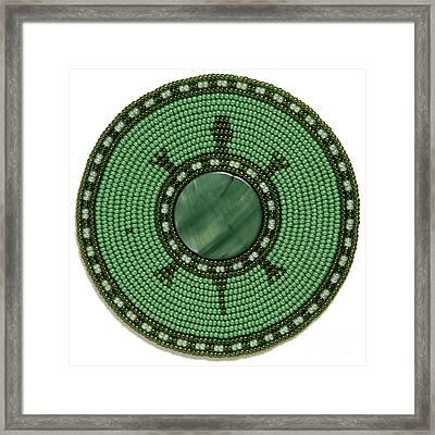 Green Shell Turtle Framed Print