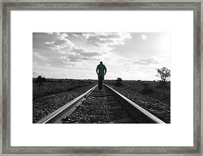 Green Shirt Framed Print by Rienye Nyika
