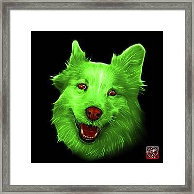 Green Siberian Husky Mix Dog Pop Art - 5060 Bb Framed Print by James Ahn