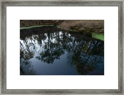 Framed Print featuring the photograph Green Sink Reflection by Paul Rebmann