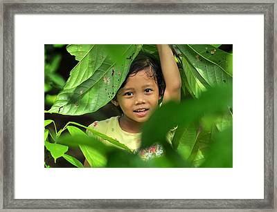 Green Smile Framed Print by Achmad Bachtiar