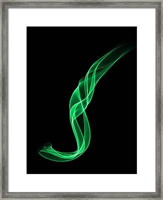 Green Smoke Framed Print by Matthew Angelo