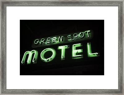 Green Spot Motel Framed Print