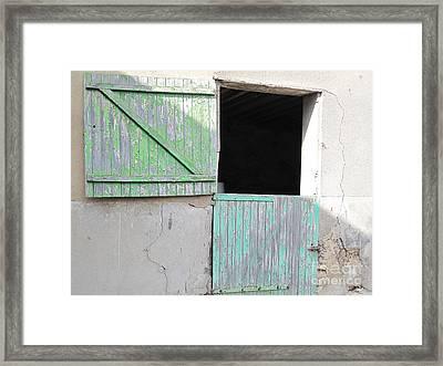 Green Stable Door Framed Print