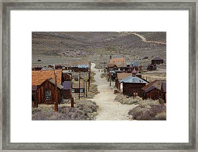 Green Street, Bodie Ghost Town Framed Print by David Wall