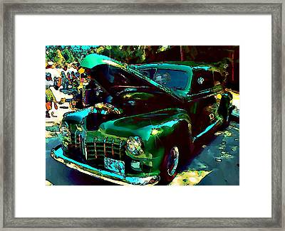 Green Street Machine Framed Print