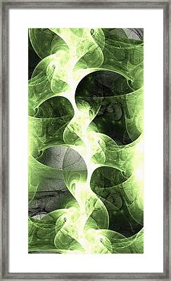 Green Surge Framed Print