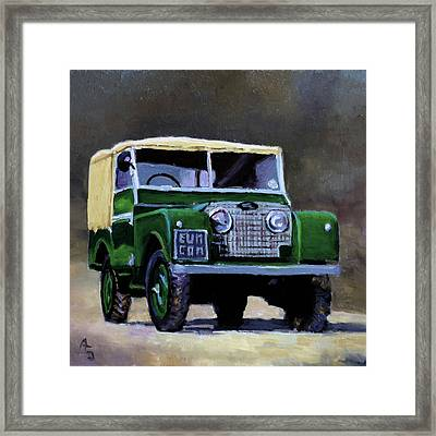 Green Suv Framed Print