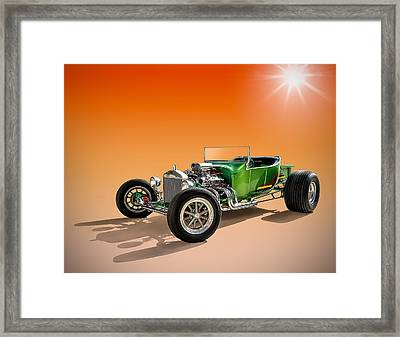 Green T With An Orange Twist Framed Print